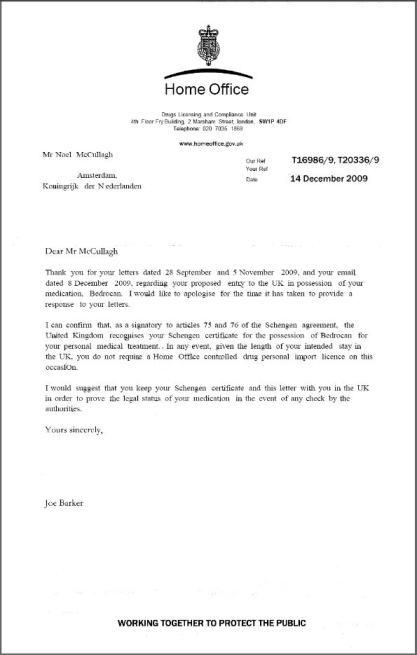 Hoke Office letter