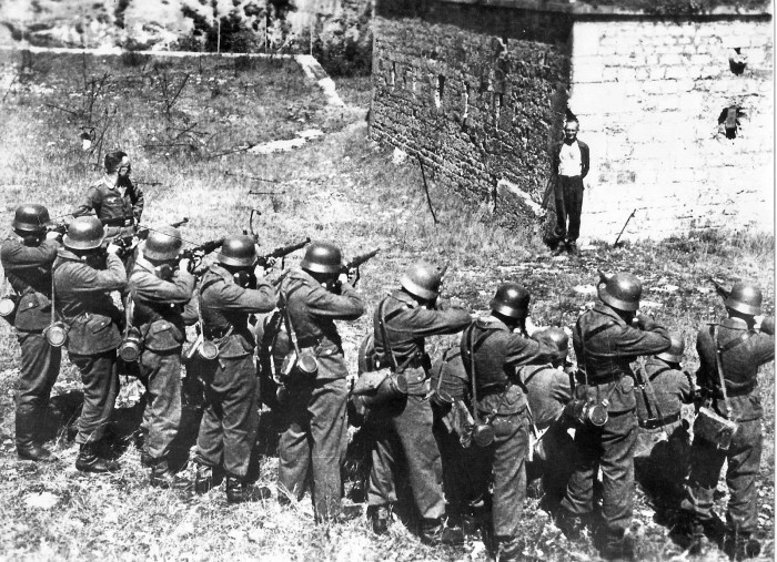 French Resistance Hero, Georges Blind, Smiles At The Firing Squad.