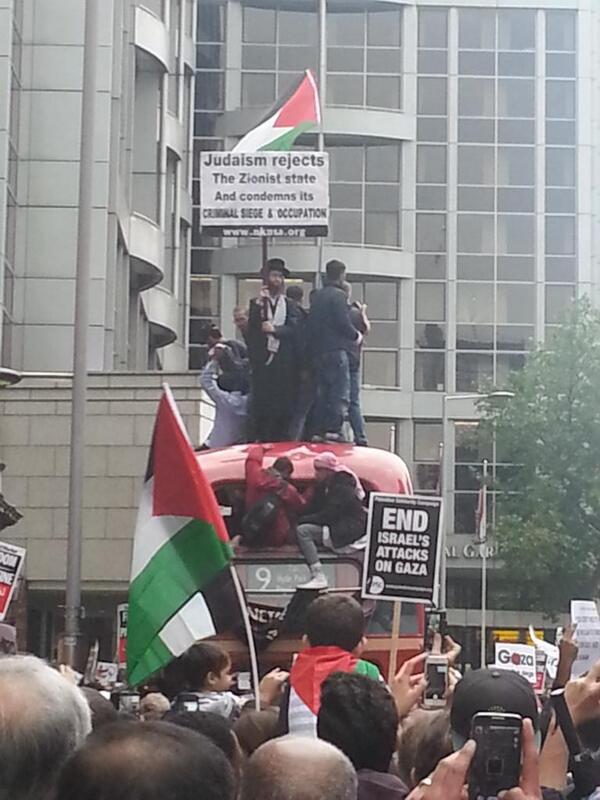 A Rabbit outside the Israeli Embassy, London, 11th July 2014