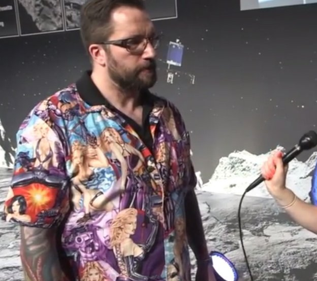 Matt Taylor,. A Brilliant British Scientist With Great Taste In Shirts.