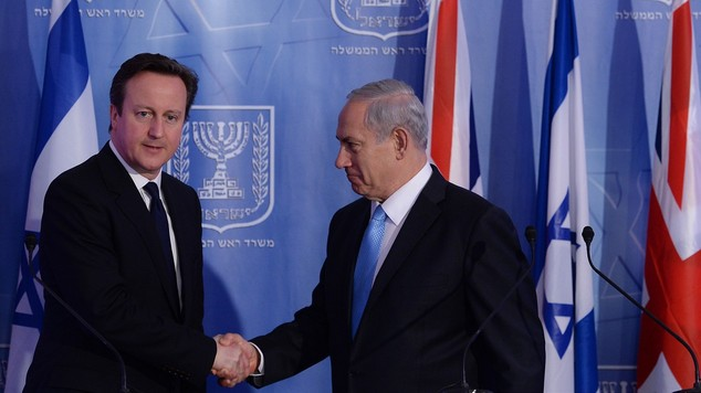 David Cameron visit to Israel and Palestine