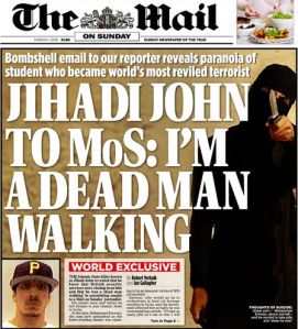 Mail on Sunday, 1st March 2015
