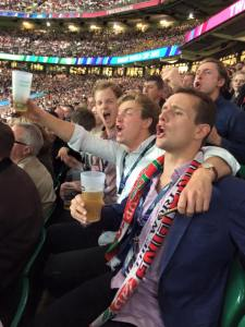 Evan and Anxious England Supporters