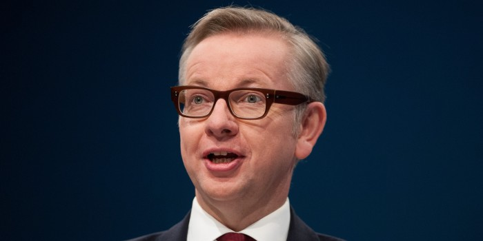 Education Secretary Michael Gove speaks to delegates during the Conservative Conference 2013, held at Manchester Central
