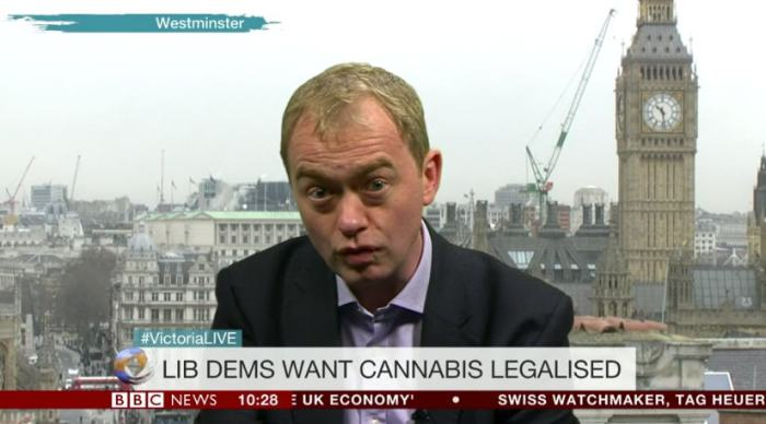 Tim Farron on BBC's Victoria Derbyshire show