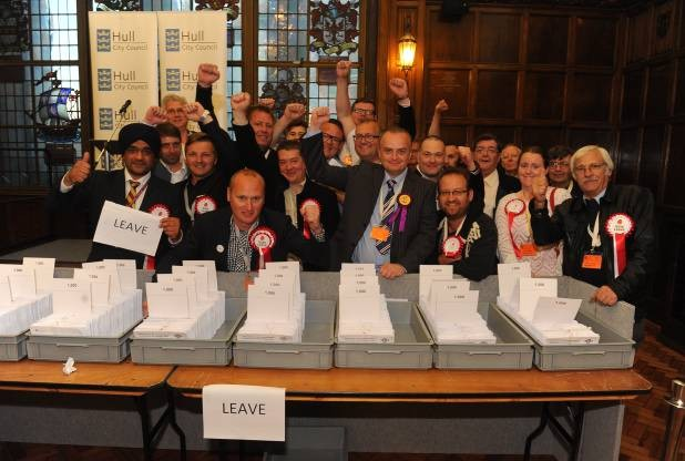 The EU Referendum 2016: The count at the Guildhall in Hull