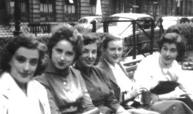 Barbara with college friends, mid 1950s
