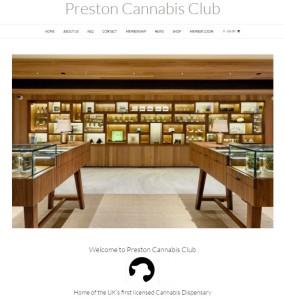 Preston Cannabis Club Website. Click To Enter.